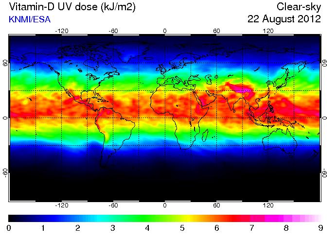 Vitamin D chart from TEMIS