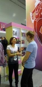 дистрибьютор товаров для загара на выставке Интершарм в Москве, 2012